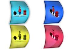 3d boy bomb balance icon Royalty Free Stock Photos