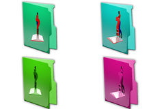 3d boy book problem icon Stock Photos