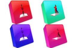 3d boy book problem icon Stock Images