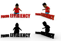 3d boy efficiency Concept Collections With Alpha And Shadow Channel Royalty Free Stock Photo
