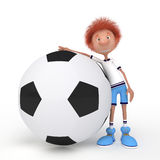 3d boy football player. Play soccer and you will become a winner Stock Photography