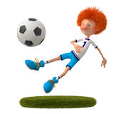 3d boy football player Stock Photos