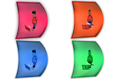 3d boy tax icon Royalty Free Stock Image