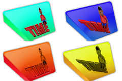 3d boy time icon Stock Images