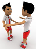3d boys playing something together concept Royalty Free Stock Photos