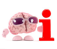 3d Brain info Stock Images