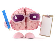 3d Brain is organised Royalty Free Stock Photo