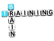 3D Brain Training Crossword. On white background Royalty Free Stock Photography