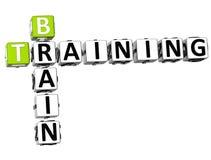 3D Brain Training Crossword. On white background Stock Images