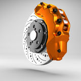 3d brake. 3d racing brakes in the background Royalty Free Stock Photo
