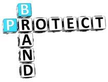 3D Brand Protect Crossword Stock Photos