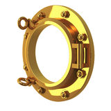 3d Brass porthole Royalty Free Stock Photography
