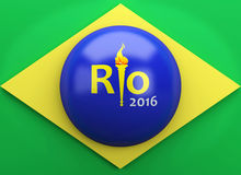 3d Brazil flag. Sports concept Royalty Free Stock Photography