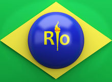 3d Brazil flag. Sports concept Royalty Free Stock Images