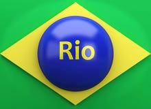 3d Brazil flag. Sports concept Stock Images