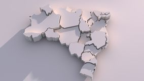 3D brazil Map Royalty Free Stock Photos