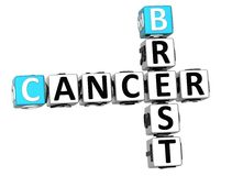 3D Brest nowotworu Crossword Zdjęcia Stock