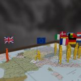 3D Brexit的例证 向量例证