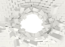 3d brick explosion Royalty Free Stock Images