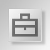 3D Briefcase icon Business Concept. 3D Symbol Gray Square Briefcase icon Business Concept Stock Image