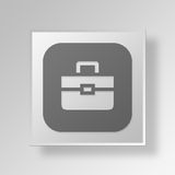 3D Briefcase icon Business Concept. 3D Symbol Gray Square Briefcase icon Business Concept Stock Photo