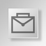 3D Briefcase icon Business Concept. 3D Symbol Gray Square Briefcase icon Business Concept Royalty Free Stock Photography