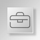3D Briefcase icon Business Concept. 3D Symbol Gray Square Briefcase icon Business Concept Royalty Free Stock Photos