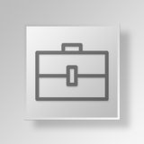 3D Briefcase icon Business Concept. 3D Symbol Gray Square Briefcase icon Business Concept Stock Images