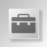 3D Briefcase icon Business Concept. 3D Symbol Gray Square Briefcase icon Business Concept Stock Photography