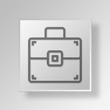 3D Briefcase icon Business Concept. 3D Symbol Gray Square Briefcase icon Business Concept Stock Photos