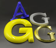 3D brieven Royalty-vrije Stock Fotografie