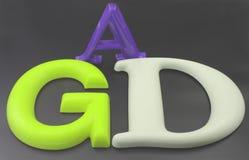 3D brieven Stock Afbeelding