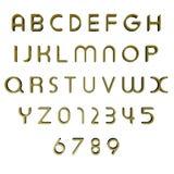 3D brieven/alfabet/aantallen Royalty-vrije Stock Foto's