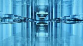 Geometric glass facade stock image