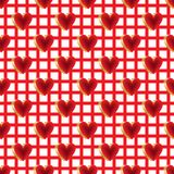 3d bright color red gold love fabric seamless pattern stock illustration