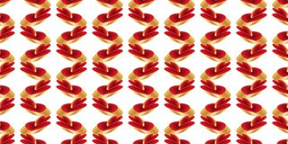 3d bright color red gold platform style seamless pattern vector illustration