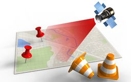 3d bright map Stock Photography