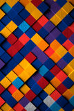 3D Bright Multicolored Cubes Background Royalty Free Stock Photos