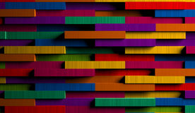 3D Bright Multicolored Striped Background. A creative 3D bright multicolored striped background Royalty Free Stock Photography