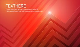 3d bright red vivid background vector illustration. 3d bright red vivid background and glow lighting vector illustration Royalty Free Stock Image