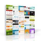 3D Brogująca strona internetowa szablonu ściany kolekcja - Alu pudełka ilustracji