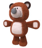 3d brown bear toy. The cheerful fluffy bear cub costs directly Stock Image