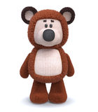 3d brown bear toy. The cheerful fluffy bear cub costs directly Stock Photos
