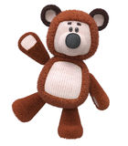3d brown bear toy. The cheerful fluffy bear cub costs directly Stock Images