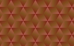 3D dark brown and pink abstract geometric background for your creative design ideas. 3D brown and pink dark cubes rganized in a pattern within abstract geometric Royalty Free Stock Images