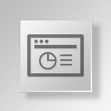 3D Browser Analytics icon Business Concept. 3D Symbol Gray Square Browser Analytics icon Business Concept Stock Photo