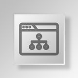 3D Browser Diagram icon Business Concept Royalty Free Stock Images