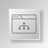 3D Browser Diagram icon Business Concept Stock Photo