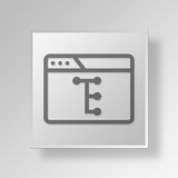 3D browser flow chart icon Business Concept. 3D Symbol Gray Square browser flow chart icon Business Concept Royalty Free Stock Photography