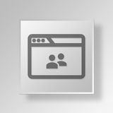 3D browser group icon Business Concept. 3D Symbol Gray Square browser group icon Business Concept Royalty Free Stock Photo